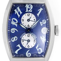 Franck Muller Master Banker 3 Time Zone Men's Steel Watch...