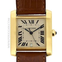 Cartier 18k yellow gold large Tank Francaise