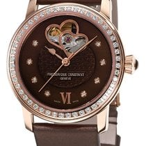 Frederique Constant Ladies Rosegold Plated Watch with Diamonds