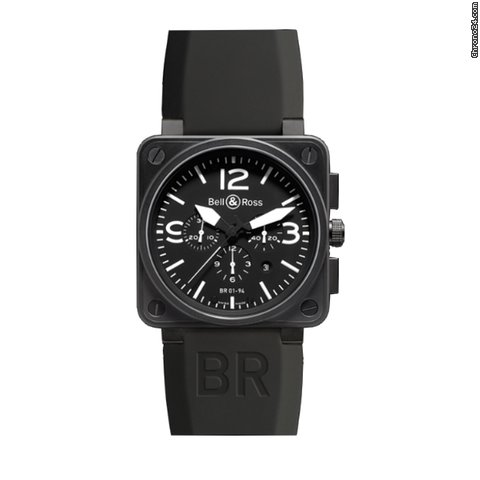 Bell &amp;amp; Ross Uhren BR 01-94 Chronograph Carbon, BR0194-BL-CA
