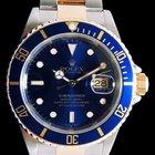 Rolex Submariner Date Bleue or et acier