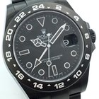 "Rolex EXPLORER II 2 DLC BLACK "" GHOST "" EDITION LAGERND"
