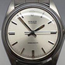 Rolex Vintage Oyster Precision 6427 Polished Bezel Silver 34mm