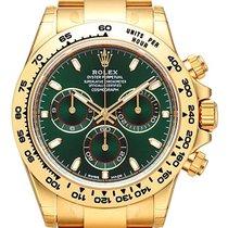 Rolex Cosmograph Daytona 18 kt Gelbgold 116508 Grün Index