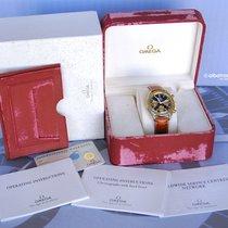 Omega SPEEDMASTER Rare REDUCED chrono GOLD ORO 18Kt - Box...