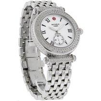 Michele Caber Pave Ladies Diamond MOP Swiss Quartz Watch...
