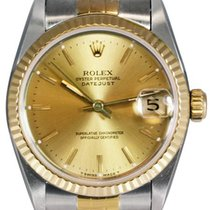 Rolex Datejust Midsize Steel and Gold Watch, Champagne Dial,...