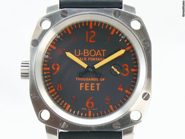 U-Boat Thousands Feet Ref. 1088 Box &amp;amp; Papiere