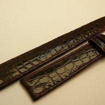 Rolex genuine crocodile strap 17/14, dark brown, New