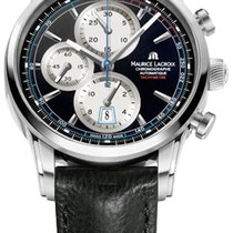 Maurice Lacroix Pontos Chronographe Retro Black Dial And White...