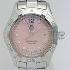TAG Heuer Aquaracer 27mm Women's Pink Diamond Dial Watch
