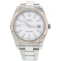 Rolex Men's Rolex Datejust II Stainless Steel 18K White...