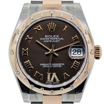 Rolex Datejust 31mm Steel & Everose Gold 24 Diamonds Bezel