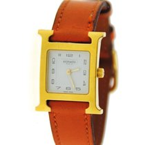 Hermès H Gold Plated Stainless Steel