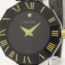 Century Time Gem Primetime Diamond Gold Plated Steel Quartz...