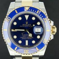 Rolex Submariner Gold/Steel Blue Dial 40MM Ceramic, Full Set 2014