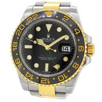 Rolex Oyster Perpetual 18K Gold/SS GMT II 116713LN, w Paper