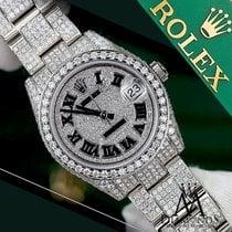 Rolex Datejust 31mm Diamond Roman Dial Oyster Bracelet Ladies...