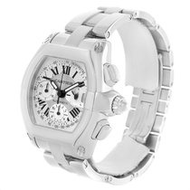 Cartier Roadster Chronograph Silver Dial Mens Watch W62006x6