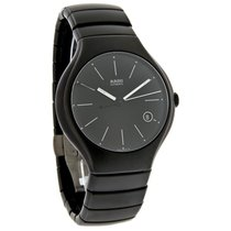 Rado True Mens Black Matte Ceramic Bracelet Swiss Automatic...