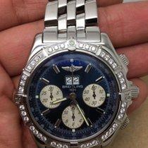 Breitling Crosswind Special A44355 Watch W/factory Diamond Bezel