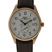 Ball Watch Trainmaster Standard Time 18kt Rose Gold