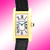 "Cartier ""Tank Americaine"" Strapwatch."