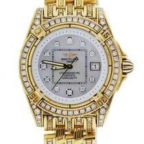 Breitling Lady Cockpit k7135663 18k  Gold Diamond Watch