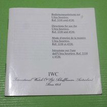 IWC vintage booklet papers porsche design ref.3330/4530