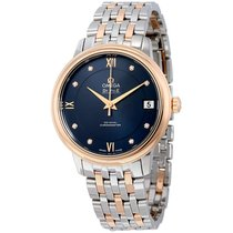Omega De Ville Prestige Co-Axial Automatic Blue Dial Stainless...