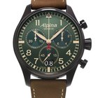 Alpina STARTIMER PILOT MILITARY - 100 % NEW - FREE SHIPPING