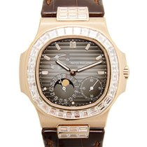 Patek Philippe New  Nautilus 18 K Rose Gold With Diamonds...