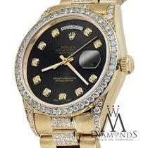 Rolex Presidential Day Date Tone Chocolate Dial Diamond Watch...