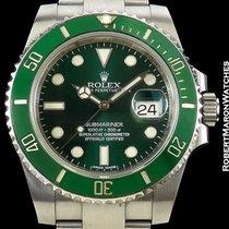 Rolex Submariner Hulk 116610lv Steel Green Dial & Bezel