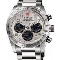 Tudor Fastrider Chronograph 42000-95730 Silver Arabic Stainles...