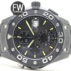 TAG Heuer Aquaracer Black Titanium Carbide Chrono 500m Calibre...
