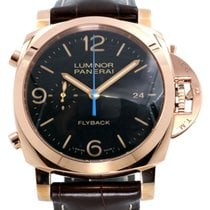 Panerai PAM 525 Luminor 1950 44mm Red Gold Brown Leather 2016