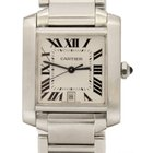 Cartier Tank Francaise Large Automatic SS 28mm Silver Dial Watch