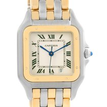 Cartier Panthere Large Steel 18k Yellow Gold Date Watch W25028b6