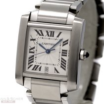 Cartier Tank Francais Automatic Medium Size Stainless Steel...