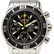 Breitling Superocean A13341 Chronograph 44mm Black Index...