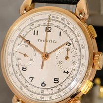 Tiffany Valjoux 22 Vintage 18K Gold  Chronograph