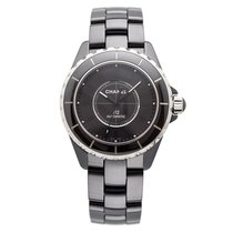 Chanel J12 Intense Black Black Ceramic&Steel, Black Dial...
