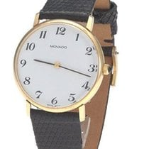 Movado Mens Pre-Owned Watch - 14k - Leather Strap - Circa...