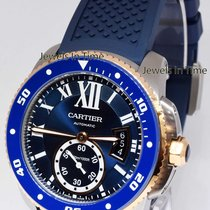 Cartier Calibre Steel Mens Diver's Watch Box/Papers NEW OLD...