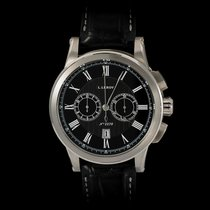 L.Leroy Marine Automatic Chronograph 18K White Gold Date