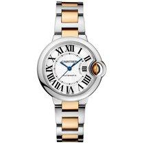 Cartier BALLON BLEU DE PLATA DIAL ACERO Y ORO AMARILLO LADIE