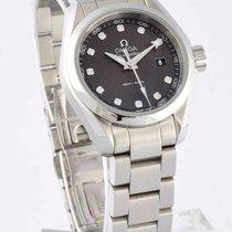 Omega Seamaster Aqua Terra 150m Black Dial Ladies 30mm Watch...
