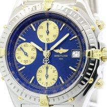 Breitling Polished Breitling Chronomat 18k Gold Steel Automati...