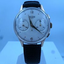 Heuer vintage chronograph BIG EYES gold 18ct ref 80825